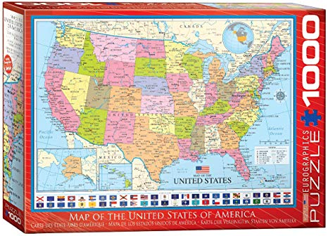 Map of the United States of America Puzzle 1000pc