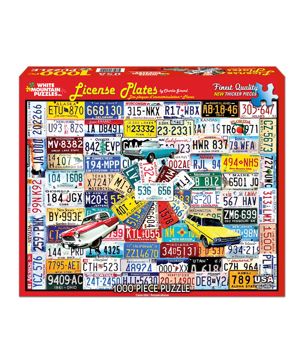 State Plates Puzzle 1000pc