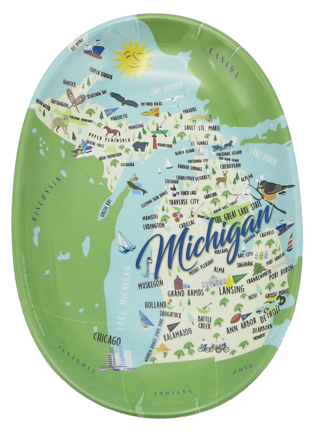 Michigan Tidbit Tray