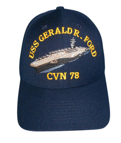 USS Gerald R. Ford CVN-78 Plain Bill Cap