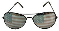 Sunglasses, American Flag Aviator