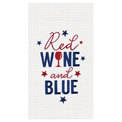 Red Wine and Blue Towel