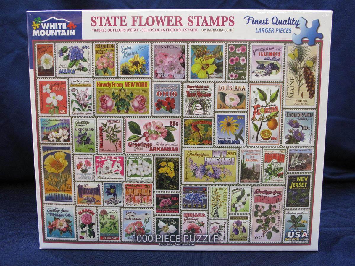 State Flower Stamps Puzzle