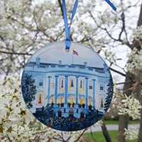 1941 White House Glass Ornament