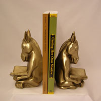Reading Donkey Bookends