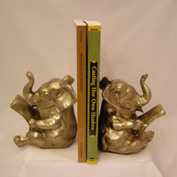 Reading Elephant Bookends