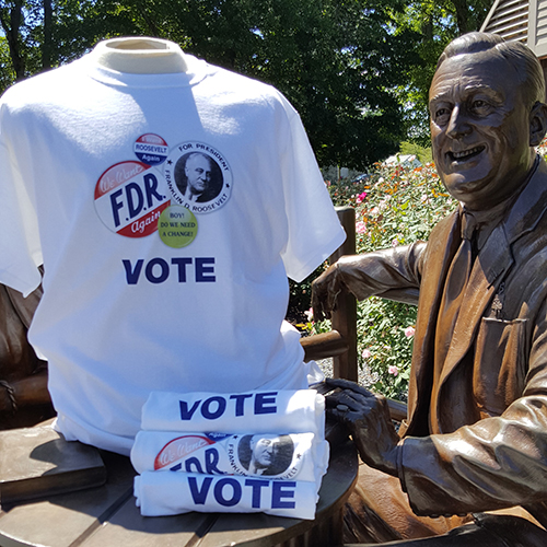 FDR Campaign Button Vote T-Shirt