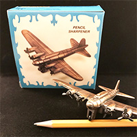 B-17 Bomber Plane Die Cast Pencil Sharpener