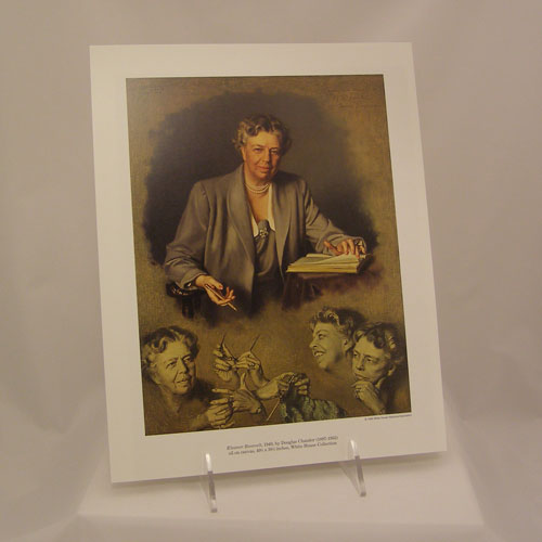Color Reproduction Print of Eleanor Roosevelt by D. Chandor