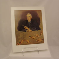 Color Reproduction Print of FDR by D. Chandor