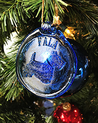 FALA Blue Glass Ornament