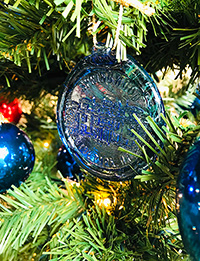 Springwood Blue Glass Ornament