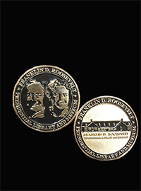 Franklin D. Roosevelr and Eleanor Roosevelt Coin