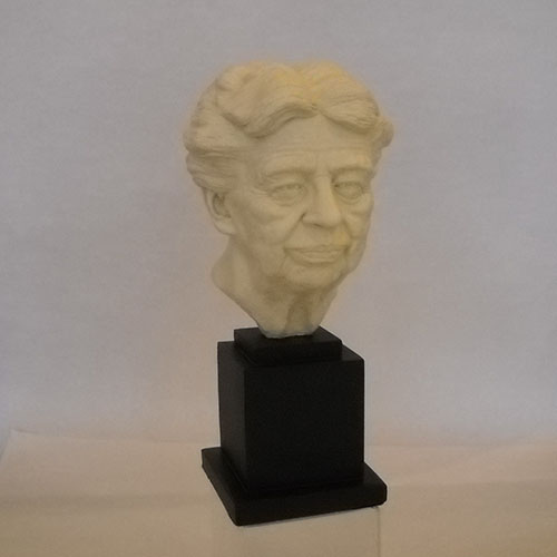 "Eleanor Roosevelt 13"" White Bust"