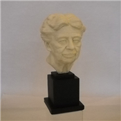 "Eleanor Roosevelt 13"" White Bust"