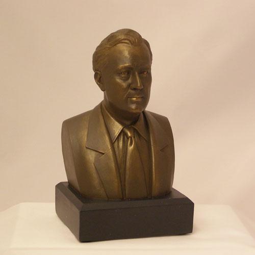 """FDR 6"""" Bronze Bust"""