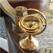 Brass Compass on Swivel Stand