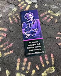 Eleanor Purple Quote Bookmark