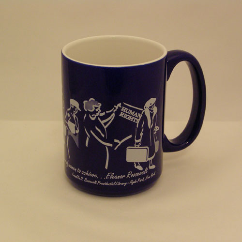 Eleanor Roosevelt Mug - Blue