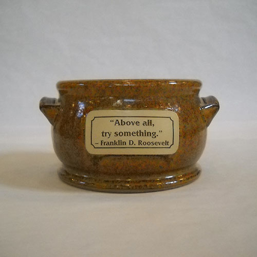FDR Quote Soup Bowl