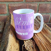 Eleanor Roosevelt Firm Belief Quote Mug