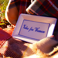 Votes for Women Rectangular Plate