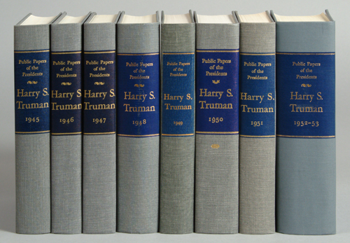 Public Papers of the Presidents of the United States: Harry S. Truman. 8-volume set