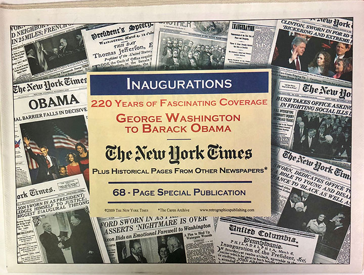 Inaugurations Newspaper Compilation