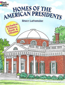 Coloring Book: Homes of the American Presidents