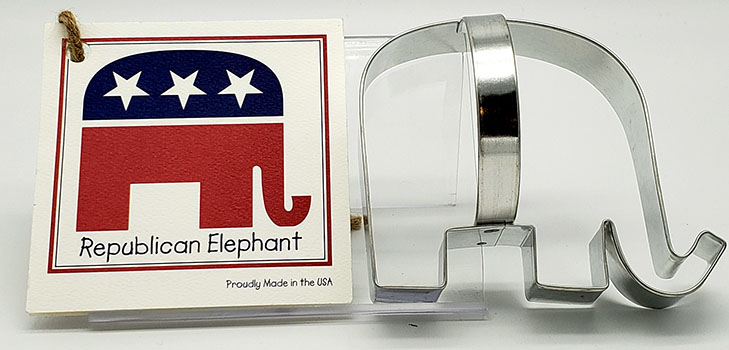 Republican Elephant Cookie Cutters
