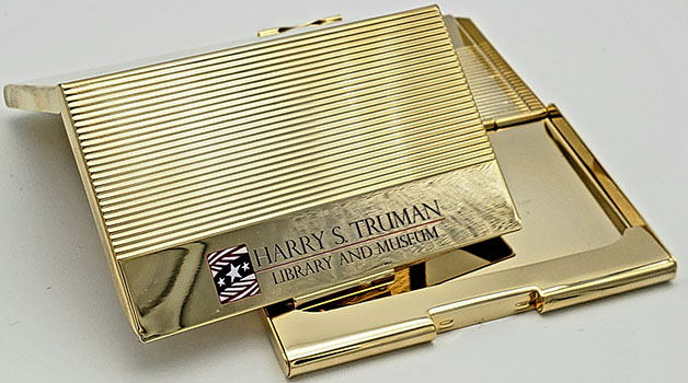 Brass Plated Business Card Case