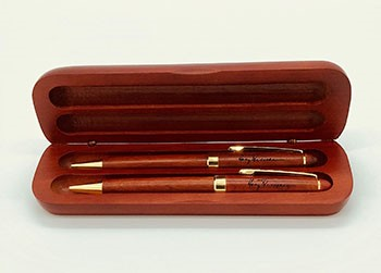 Rose Wood Pen & Pencil Set