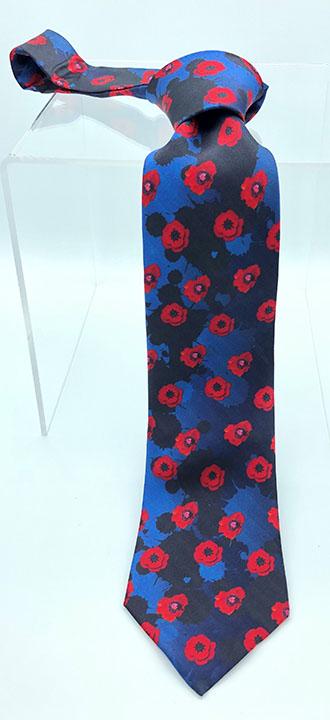 Poppy Flower Remembrance Tie