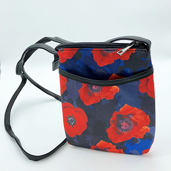Poppy Flower Remembrance Bag