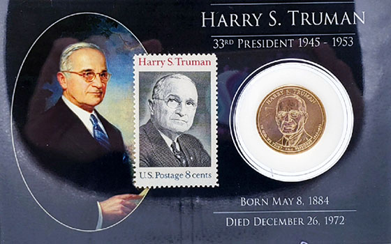HST Presidential Coin & Stamp Set