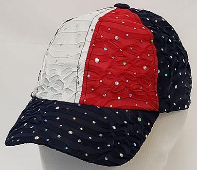 Ladies Glitter Patriotic Hat
