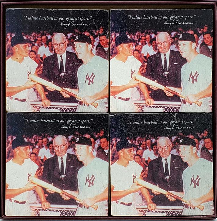 Baseball Coasters- set of 4, boxed