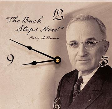 HST-Buck Stops Here Clock
