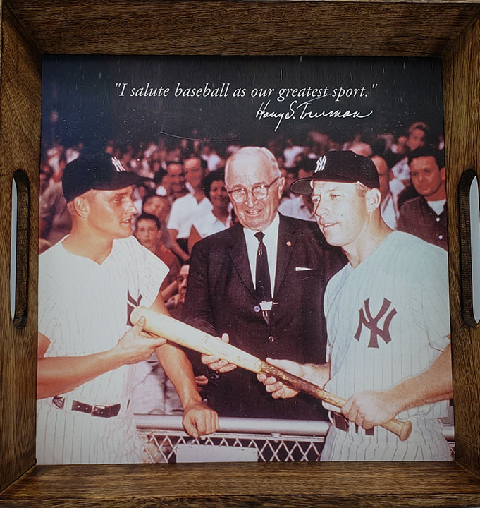 HST & Yankee Greats Wood Serving Tray