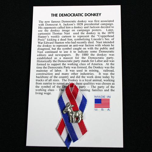 Democratic Donkey Pin