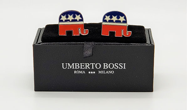 Cufflinks: Republican Elephant