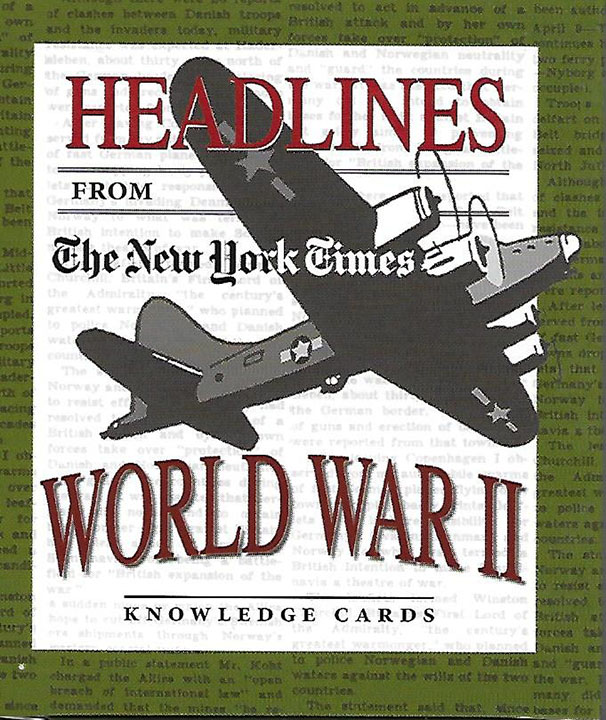Headlines from NY Times - WWII Cards, #K190