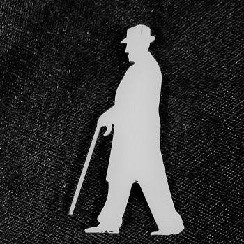 Truman Silhouette Pin- Large