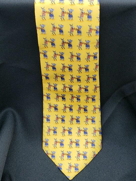 Elephant & Donkey Boxing Tie
