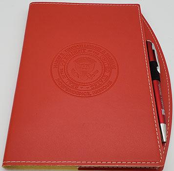 Journal: Red w/ pen