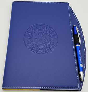 Journal: Blue w/ pen